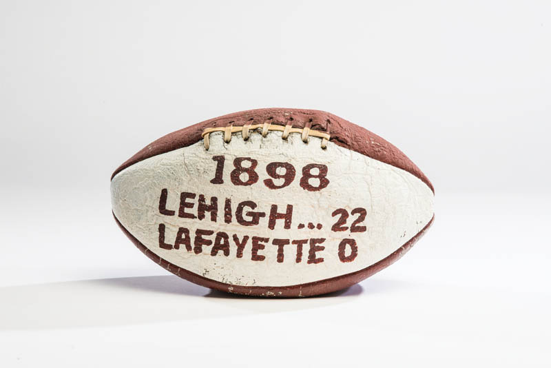 A photo of a Lehigh-Lafayette football from 1898.